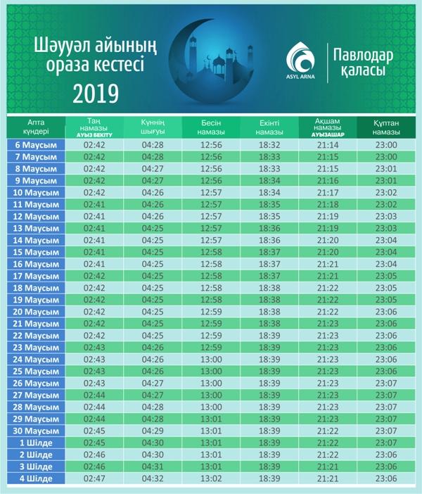 Pavlodar shauual kestesi 2019